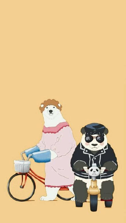 超级萌的白熊咖啡厅动漫皮肤