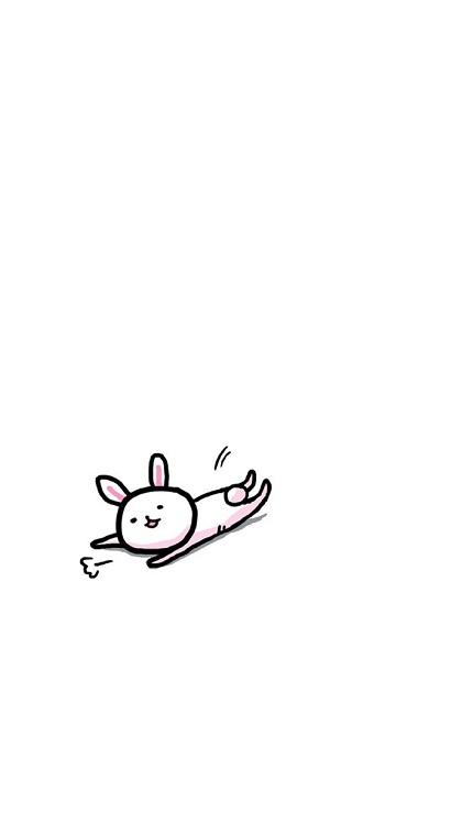 最新简笔画可爱小兔子qq皮肤库_qq可爱皮肤_剑速网