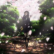 清纯少女唯美风景的手绘漫画头像